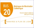 location calanques, horaires bus RTM n° 20